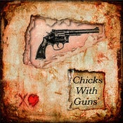 Image of &quot;Chicks With Guns 1&quot; &lt;br&gt; Sizes: 4x4&quot;, 6x6&quot; &amp; 8x8&quot; 