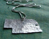 Image of Nebraska State Necklace
