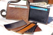 Image of Chromexcel Leather Three Pocket Cardholder Wallet