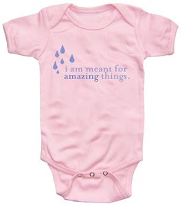 "Image of Baby Onesies - ""I Am Meant for Amazing Things"" (PINK)"