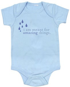 Image of Baby Onesies - &quot;I Am Meant for Amazing Things&quot; (BLUE)