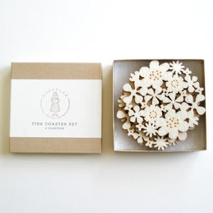 Image of Flower Coasters Ivory