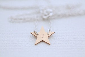 Image of Tiny Initialed Star Necklace