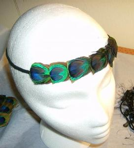 Image of Peacock Headband (6 feather eyes)