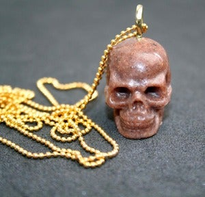 Image of Brown Sand Skull Necklace
