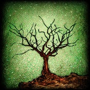 "Image of Solo Tree Dormant 1 Green"" <br> Sizes: 4x4"", 6x6"" & 8x8"""