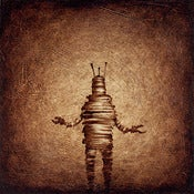 "Image of ""Solo RobotC Brown"" <br> Sizes: 4x4"", 6x6"", 8x8"", 12x12"""