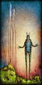 "Image of ""Drip RobotC 2"" <br> Size: 12x6"" <br> 2nd photo shows size"