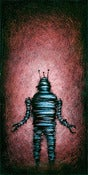 "Image of ""Solo RobotC Red"" <br> Size: 12x6"" <br> 2nd photo shows size"