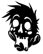 Image of Zombie Dad Head (Family Decal Set 2)