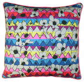 Image of large zigzag floral cushion