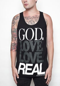 "Image of ""God Is Love"" Black Tank"