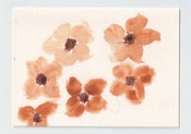 Image of Blank Flower Card 