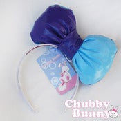 Image of Blue & Purple Two Tone Vinyl Bow