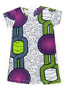 Image of Tili Bwino PENDA pattern t-shirt dress