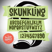 Image of Skunkling Font Family