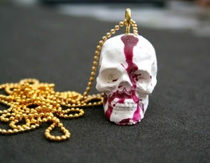 Image of Blood Splash Skull Necklace