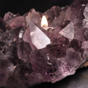 Image of Amethyst Candle Holder