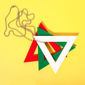 Image of TRI-COLOUR TRI∆NGLE NECKLACE
