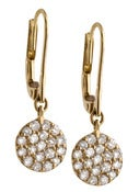 Image of   Kara Ackerman <i> Audrey <i/> 14k Yellow Gold Diamond Disc Earring
