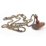 Image of Wooden Spinning Top necklace