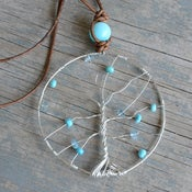 Image of Turquoise Tree Of Life Necklace