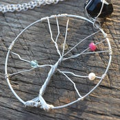 Image of Mother's Tree Of Life Necklace - Silver