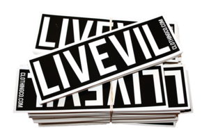 Image of 8.5''x2.5'' Vynil Bumper Sticker.