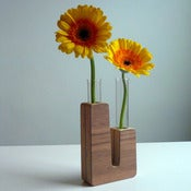 Image of Power Plants Bud Vase: &quot;Coal Fired&quot; Walnut