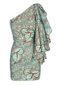 Image of Flare Sleeve Dress / Mint and Choc