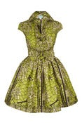 Image of Green Birds Shirt Dress