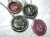 Image of Wax Seal Symbol Necklace Your Choice of Picture and Color