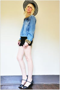 Image of Amazing Leopard Denim Jacket