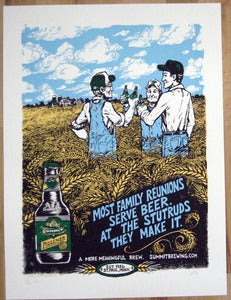 Image of Summit Brewing Co. Pilsener limited edition screenprinted poster