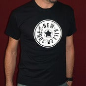 Image of Mens 'NKS logo' black T-Shirt