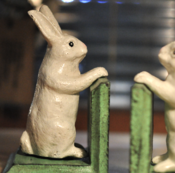 Image of Cast Iron Bunny Bookends