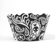 Image of Zoe Skulls and Crossbones Cupcake Wrapper