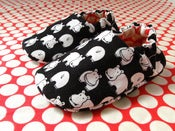 Image of Reversible Baby Shoes, Hippos