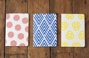 Image of Screen printed notebooks