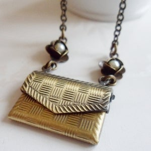 Image of Devoted Envelope Locket Necklace