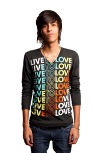 Image of Signature Color Long Sleeve V-Neck