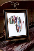 Image of 8x10 Black Framed Rolled Art-Africa, Haiti, China OR Cross