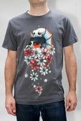Image of Dahlias Tee Shirt in Asphalt - Mens/Unisex