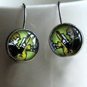 Image of Boy Reading Book Earrings Literary Jewelry