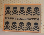 Image of Happy Halloween with Skulls note card