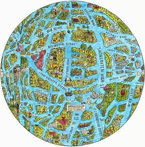 Image of The Map of Shoreditch as the Globe (Limited Edition Print)