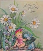 Image of Vintage Greeting Card - happiest Birthday Ever - 1947