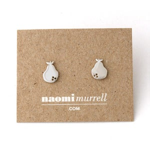 Image of Pear Studs | Silver {10% OFF + FREE SHIPPING}