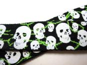 Image of Unisex Skull Belt Fabric Cinch Belt