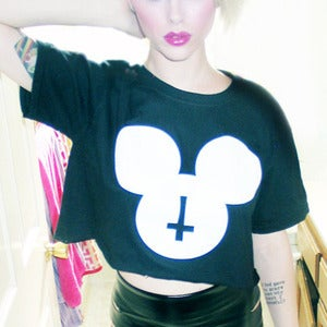 Image of mouse club crop top